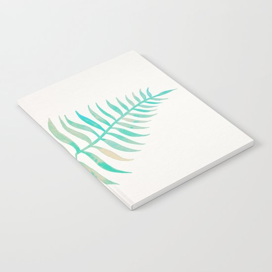 Palm Leaf – Sea Foam Palette Notebook