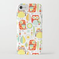 mod iPhone & iPod Cases featuring Mod Owls by Jeannine Feierbach Designs