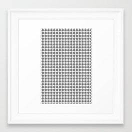 Black and White Custom Pattern 2 Framed Art Print