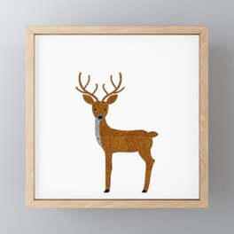 GLITTER DEER I Framed Mini Art Print