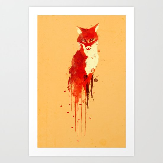 The fox, the forest spirit Art Print