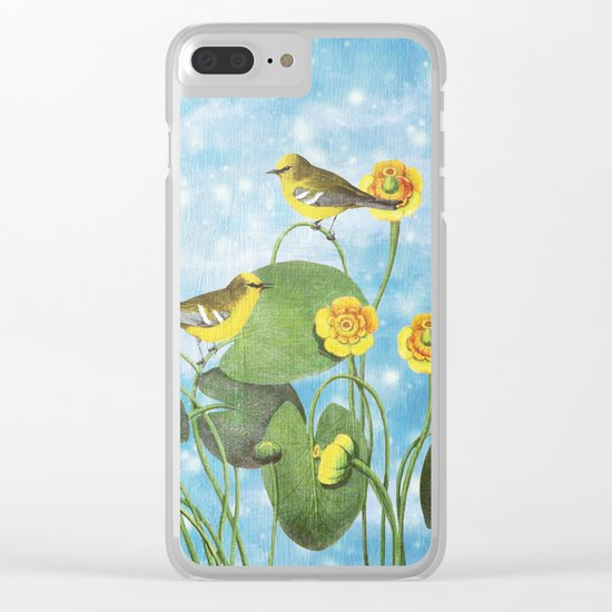 One Morning in the Water Lily Pond Clear iPhone Case