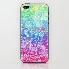 Fantasy Garden Rainbow Doodle iPhone & iPod Skin