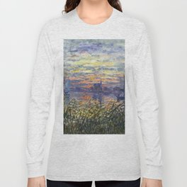 Claude Monet, French, 1840-1926 Marine View with a Sunset Long Sleeve T-shirt
