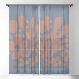 Abstraction_Floral_Pattern_Art_Minimalism_001 Sheer Curtain