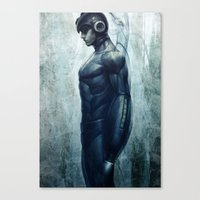 mega man Canvas Prints featuring Mega Real Man by Artgerm™