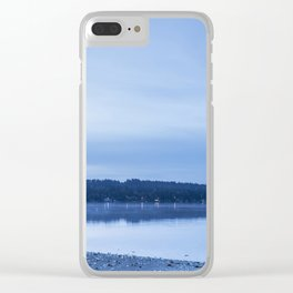 Breaking Blue Clear iPhone Case