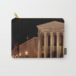 Night shot of national theatre in Subotica, Serbia Carry-All Pouch