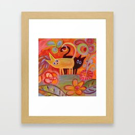 cats and tails Framed Art Print
