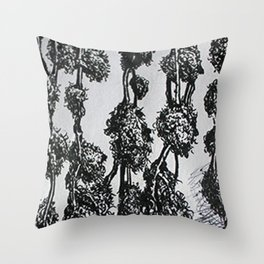Drying Buds Throw Pillow