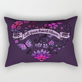 Let Your Heart Bloom Rectangular Pillow