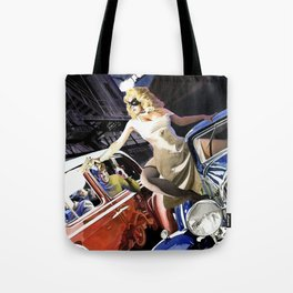 Domino Lady # 5 Tote Bag