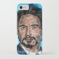 robert downey jr iPhone & iPod Cases featuring RD JR by Balazs Pakozdi