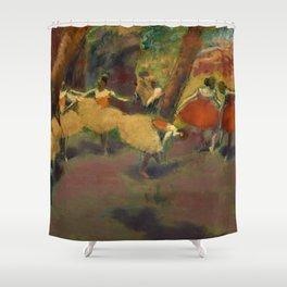 "Edgar Degas ""Before the performance"" Shower Curtain"