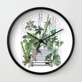 greenhouse illustration Wall Clock