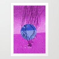 Bright Sea Branch Art Print