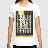 kansas city T-shirts featuring Kansas Fucking City by black lab studio
