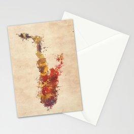 saxophone art Stationery Cards