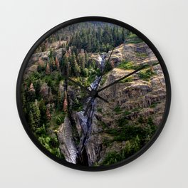 Driving the Spectacular, but Perilous Uncompahgre Gorge, No. 4 of 5 Wall Clock