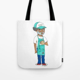 Waiter Ed From Jackie's Diner Tote Bag