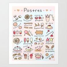 Postres Art Print