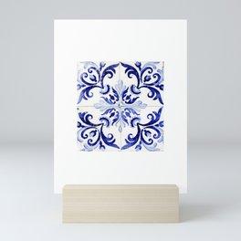 Azulejo V - Portuguese hand painted tiles Mini Art Print