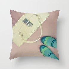 Travel Stories Throw Pillow