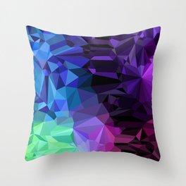 Crazy Crystals Throw Pillow