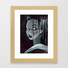 Geisha in the Machine: The Illusional Concubine Framed Art Print