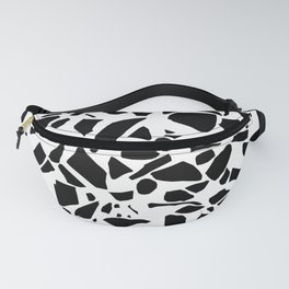 Terrazzo Black on White Fanny Pack