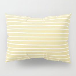 Simple Sunflower Yellow and Stripes Pillow Sham