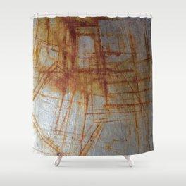 Rusty Boxy Shower Curtain