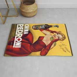 Vintage China Pedroni Advertising Wall Art Rug