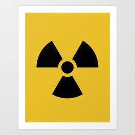 Radiation Hazard Symbol Art Print