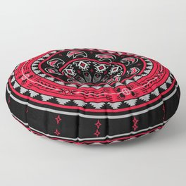 Bear Spirit (Red) Floor Pillow