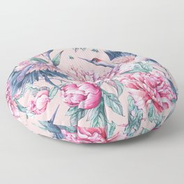 Pastel spring gardens Floor Pillow