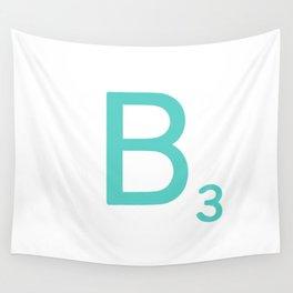 Custom Blue Scrabble Letter B Wall Tapestry