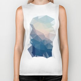 BE WITH ME - TRIANGLES ABSTRACT #PINK #BLUE #1 Biker Tank