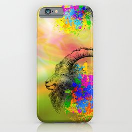 Mountain Goat, Ram portrait iPhone Case