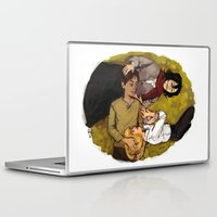 attack on titan Laptop & iPad Skins featuring A Nap on Titan by crowry