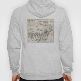 Vintage Map of The White Mountains (1864) Hoody
