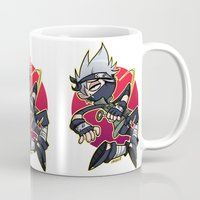 kakashi Mugs featuring Kakashibi by Jackce