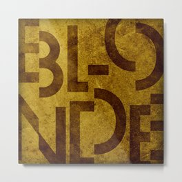 Blonde Beer Typography Metal Print