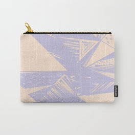 Modern lilac ivory violet geometrical shapes patterns Carry-All Pouch