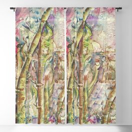 Bamboo Spirits Blackout Curtain