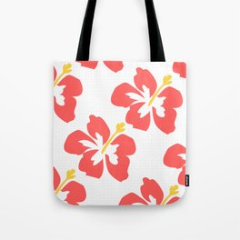 Flowers illustrated (white background) Tote Bag