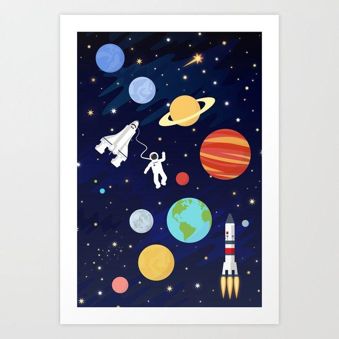 In space Kunstdrucke
