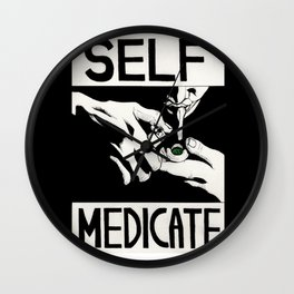 Self-medicate: Smoker Wall Clock