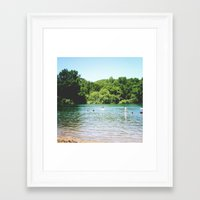 swim Framed Art Prints featuring Swim by Christine Hall