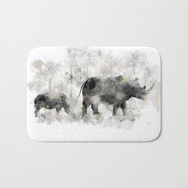 Rhino and Calf Bath Mat